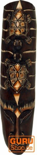 Kleine Abstrakte Maske, Wandschmuck, Ethno Wanddekoration aus Balsaholz - Modell 8