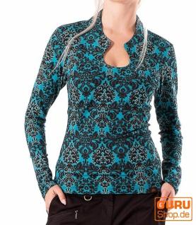 Pullover, Langarmshirt aus Bio-Baumwolle / Chapati Design - petrol multi