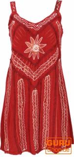 Besticktes indisches Minikleid Boho chic, Hippie Tunika - rot Design 6
