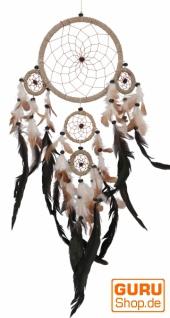 Traumfänger in Mandala 2 Größen - beige