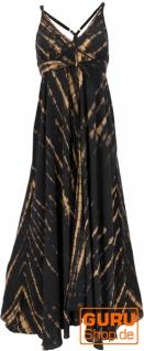 Maxikleid, Strandkleid, Sommerkleid, langes Kleid - black Tie dye