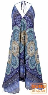 Boho Sommerkleid, Magic Dress, Maxikleid, Nackholder Strandkleid - indigoblau
