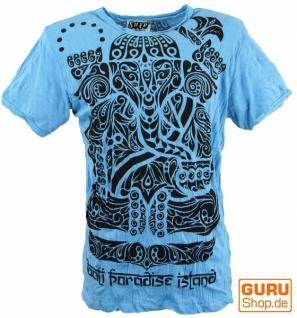 Sure T-Shirt Tribal Ganesha - hellblau