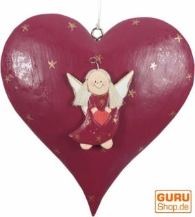 Schutzengel, Weihnachtsengel, Chrisbaumschmuckherz in 3 Farben - Vorschau 2