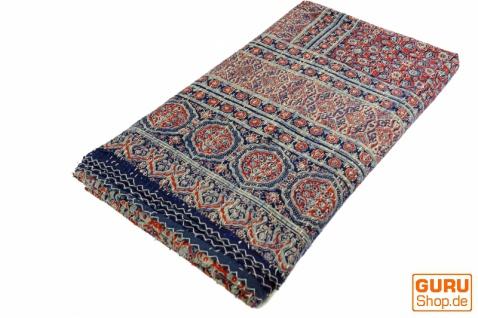 Quilt, Steppdecke, Tagesdecke Bettüberwurf, Besticktes Tuch, Indischer Bettüberwurf, Tagesdecke - Muster 8