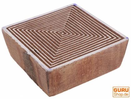 Indischer Textilstempel, Holz Stoffdruckstempel, Blaudruck Stempel, Druck Modell - 7*7 cm Spirale 1