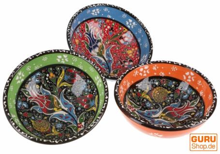 3`er Set Orientalische Schüsseln, Schale, Müslischale Ø 13 cm, handbemalt - Set 2