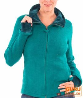 Jacke aus Bio-Baumwolle / Chapati Design - Bottle green
