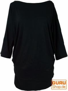 Goa Maxishirt, Tunika, Maxikleid, Hippie Kleid, - schwarz