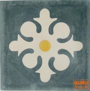 Zementfliesen Set, Ornament aus 4 Fliesen, grau - Design 8 - Vorschau 2
