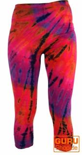 3/4 Batik Damen Leggings, Stretch Sporthose für Frauen, Yogahose - Vorschau 1