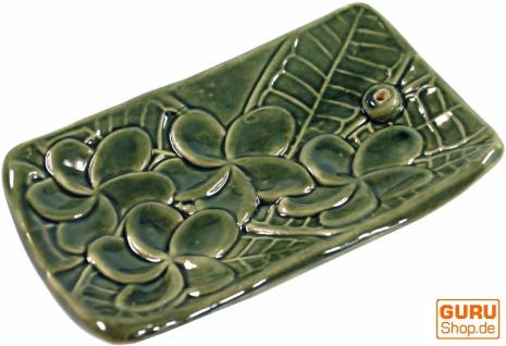 Räucherstäbchenhalter aus Keramik grün - Modell 6