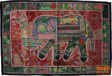 Indischer Wandteppich Patchwork Wandbehang, Einzelstück 150*100 cm - Muster 40