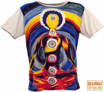 Mirror T-Shirt - Chakra Yogi / beige