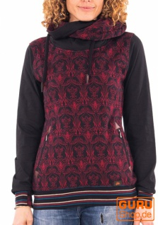 Pullover mit Kapuze aus Bio-Baumwolle / Chapati Design - burg wings
