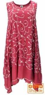 Ethno Midikleid, besticktes Sommerkleid, Lagenkleid - rot