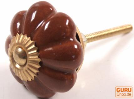 Möbelknopf Rose aus Keramik, Möbelknauf Möbelgriff, Schranktürknöpfe, Möbelknöpfe, Schubladengriff - Modell 8