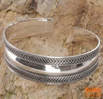 Boho Silber Armreifen, indische Armspange - Modell 2