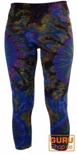 3/4 Batik Damen Leggings, Stretch Sporthose für Frauen, Yogahose - Vorschau 4