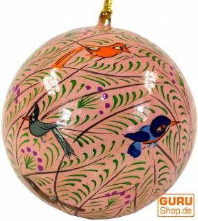 Upcyceling Weihnachtskugel aus Pappmachee, Handbemalter Christbaumschmuck, Kaschmirkugeln - Muster 25