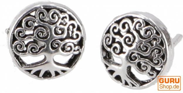 Silberne Ohrringe, Ohrstecker aus Silber `Tree of Life`- Model 3