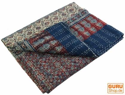 Quilt, Steppdecke, Tagesdecke Bettüberwurf, Besticktes Tuch, Indischer Bettüberwurf, Tagesdecke - Muster 20