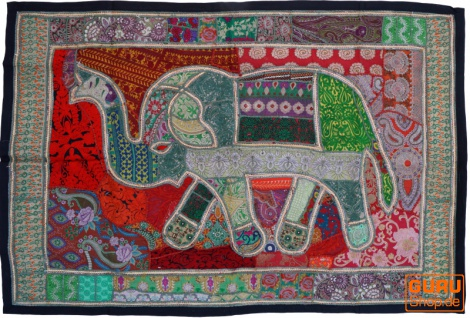 Indischer Wandteppich Patchwork Wandbehang, Einzelstück 150*100 cm - Muster 42