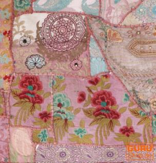 Indischer Wandteppich Patchwork Wandbehang/Tischläufer Einzelstück 90*65 cm - Muster 23 - Vorschau 2