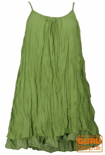 Boho Krinkelkleid, Minikleid, Sommerkleid, Strandkleid, Lagenkleid - lemon