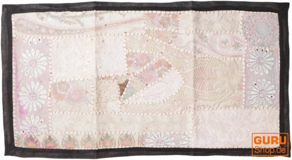 Indischer Wandteppich Patchwork Wandbehang, Tischläufer, Einzelstück 85*45 cm - Muster 8