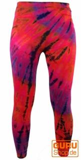 Batik Damen Leggings, Stretch Sporthose für Frauen, Yogahose