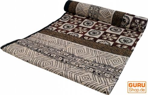 Blockdruck Tagesdecke, Bett & Sofaüberwurf, handgearbeiteter Wandbehang, Wandtuch - Muster 3