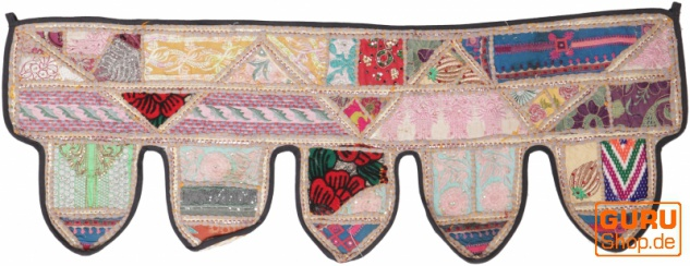 Orientalischer Wandbehang, indischer Toran, Wimpel Wandteppich, Wanddekoration, Tür Deko Einzelstück 90*30 cm - Design 11