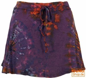Batik Hippie Minirock, Boho Sommerrock - flieder