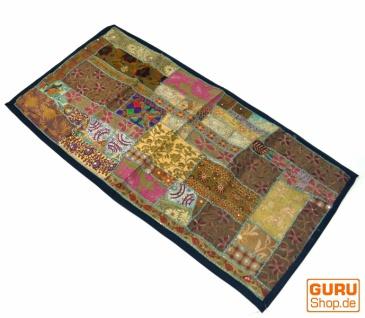 Indischer Wandteppich Patchwork Wandbehang/Tischläufer Einzelstück 125*65 cm - Muster 21