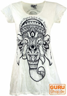 Sure Long Shirt, Minikleid Ganesha - weiß