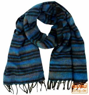 Weicher Goa Schal / Stola - blau