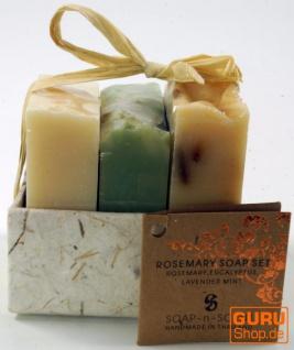Seifenset, Geschenkset - Mediterran - 3 x Duftseife 100 g, Fair Trade - Vorschau 2