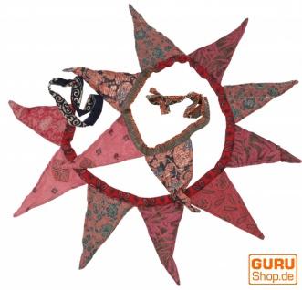 Saree Wimpel Girlande, 2 m Wimpelkette - pink