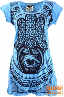 Sure Long Shirt, Minikleid Fatimas Hand - hellblau