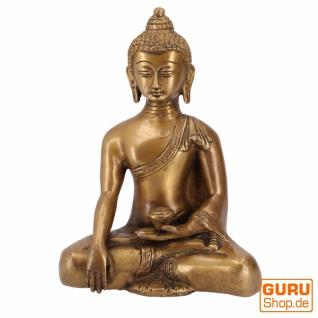 Buddha Statue aus Messing Bhumisparsa Mudra 16 cm - Modell 8