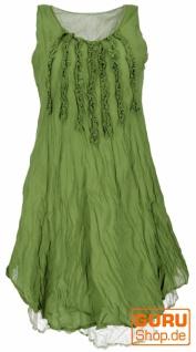Boho Krinkelkleid, Lagenkleid, Minikleid, Sommerkleid, Strandkleid - lemon