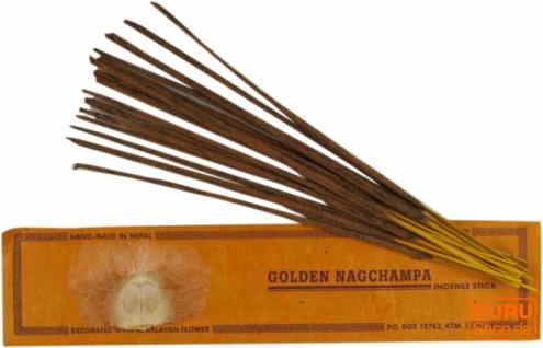 Handmade Räucherstäbchen - golden Nag Champa