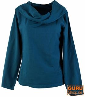 Hoody Boho chic, Langarmshirt mit Schalkragen - pertol