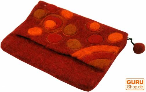 Filz Kosmetiktäschchen Retro Retro Tasche in 6 Farben - Vorschau 2