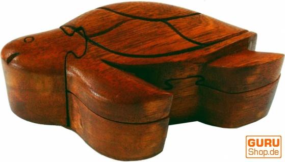 Puzzlebox, Schmuckschatulle, Magic Box, Schachtel mit Geheim Verschluß - Schildkröte