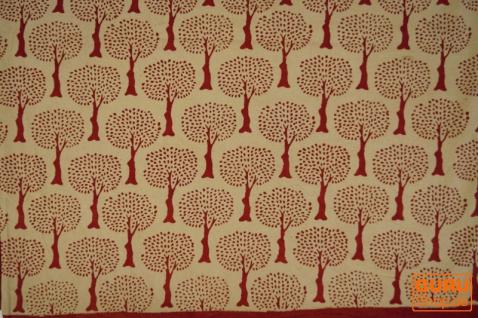 Blockdruck Tagesdecke, Bett & Sofaüberwurf, handgearbeiteter Wandbehang, Wandtuch - Design 13 - Vorschau 2