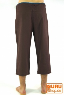 3/4 Yogahose, Goa Hose, Goa Shorts- kaffeebraun - Vorschau 3