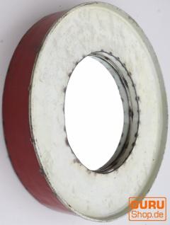 Metall Spiegel aus recyceltem Faß Deckel aus Metall, Vintage Deko Spiegel - Farbe 1