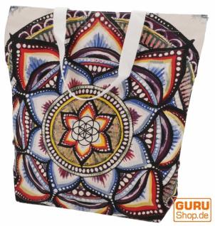 Mirror Shopper Tasche, Einkaufstasche, Strandtasche - Mandala